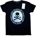 Camiseta Philipp Plein Hombre Negra Ref.11156