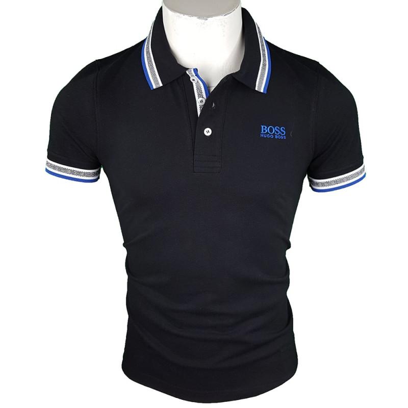 Polo Hugo Boss Hombre Negro Ref.9224