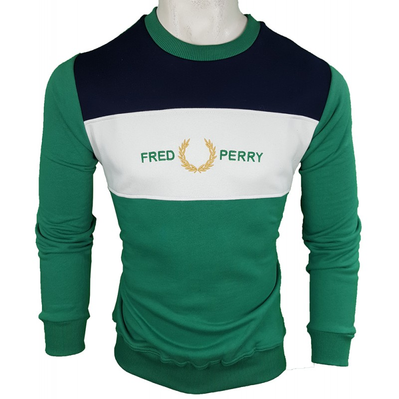 Jersey Fred Perry Hombre Verde Ref.1920