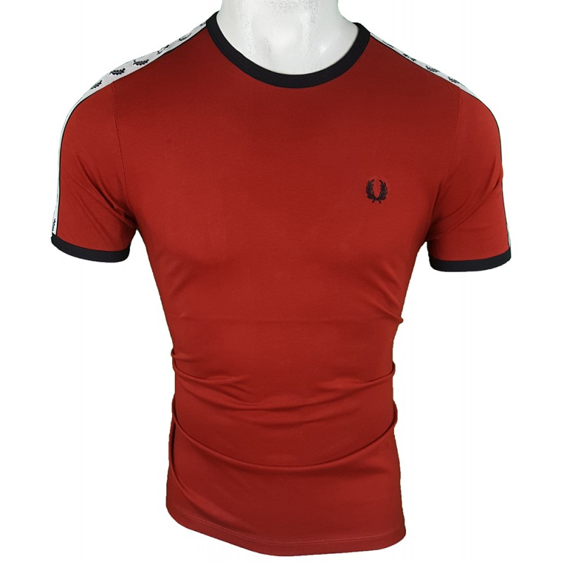 Camiseta Fred Perry Hombre Bordeaux Ref.1924