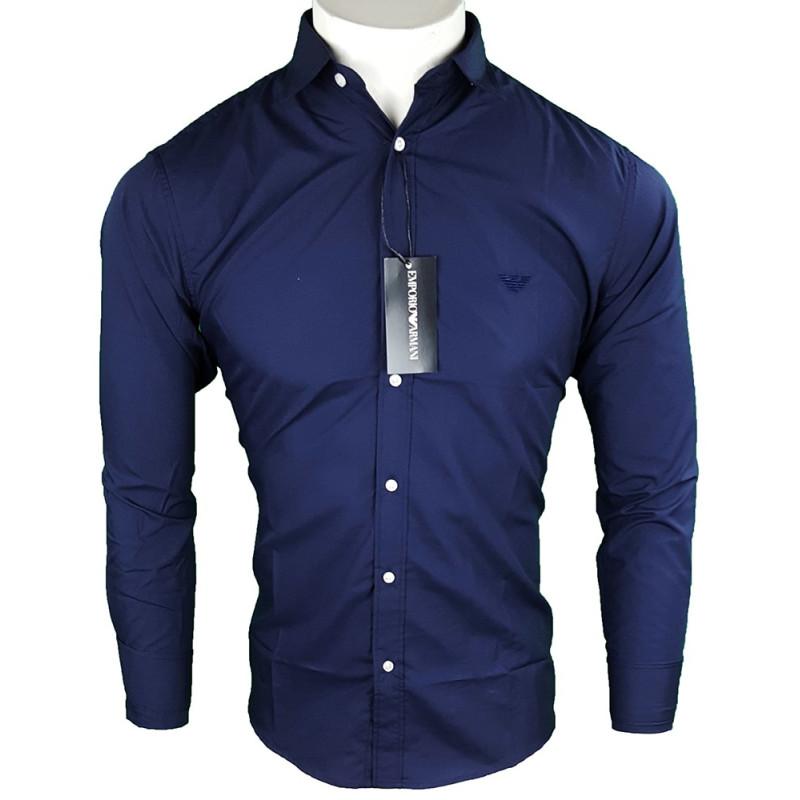 Camisa Emporio Armani Hombre Azul Marino Ref.6390