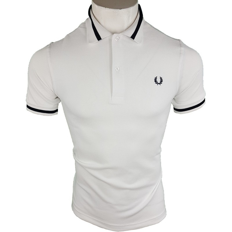 Polo Fred Perry M2 Hombre Blanco Ref.1930