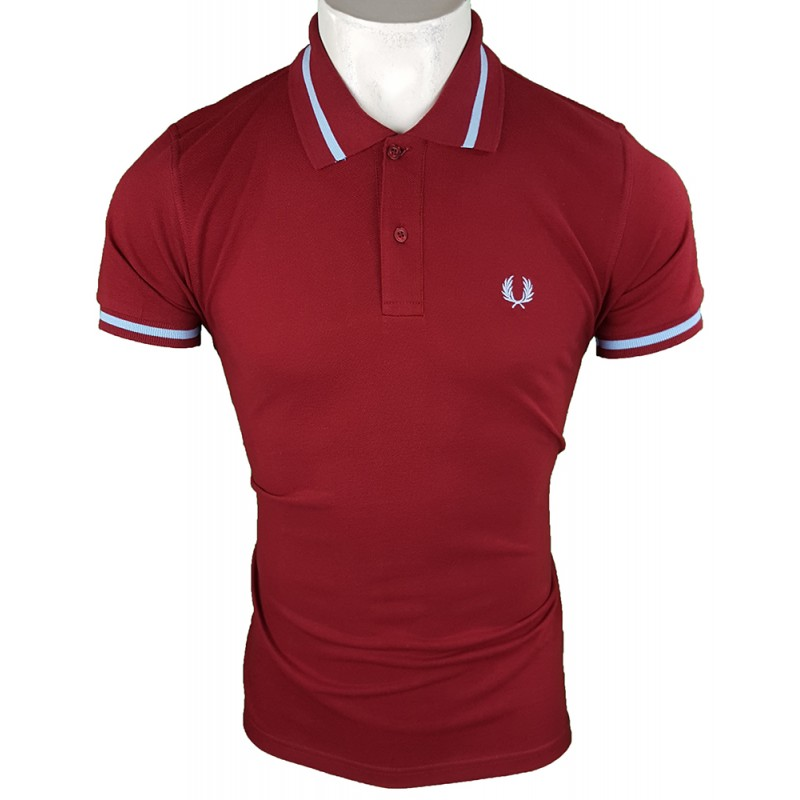 Polo Fred Perry M2 Hombre Bordeaux Ref.1931