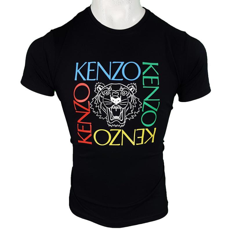 Camiseta Kenzo Bordada Hombre Negra Ref.70034