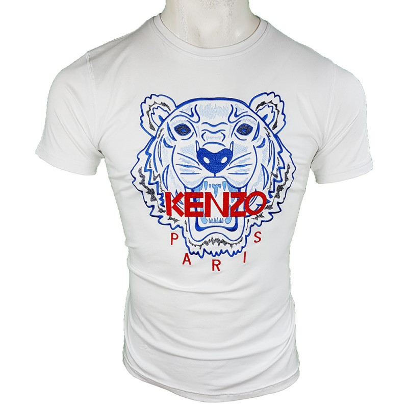 Camiseta Kenzo Bordada Hombre Blanca Ref.70029