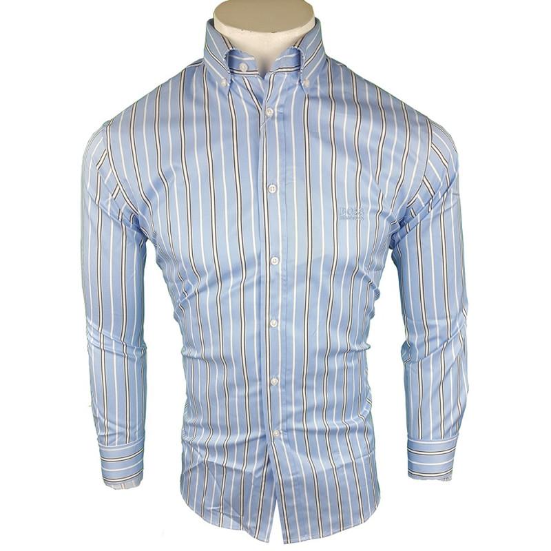 Camisa Hugo Boss Hombre Azul Ref.9104