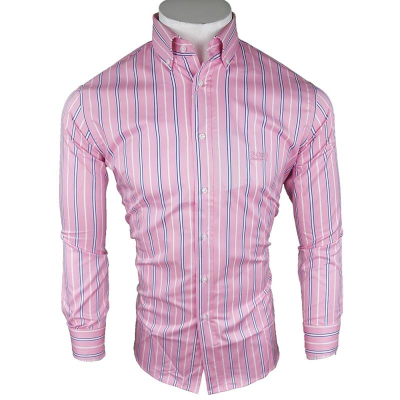Camisa Hugo Boss Hombre Rosa Ref.9103
