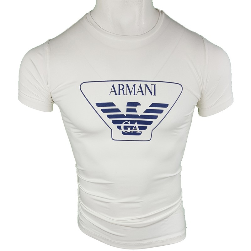 Camiseta Armani Hombre Blanca Ref.6260