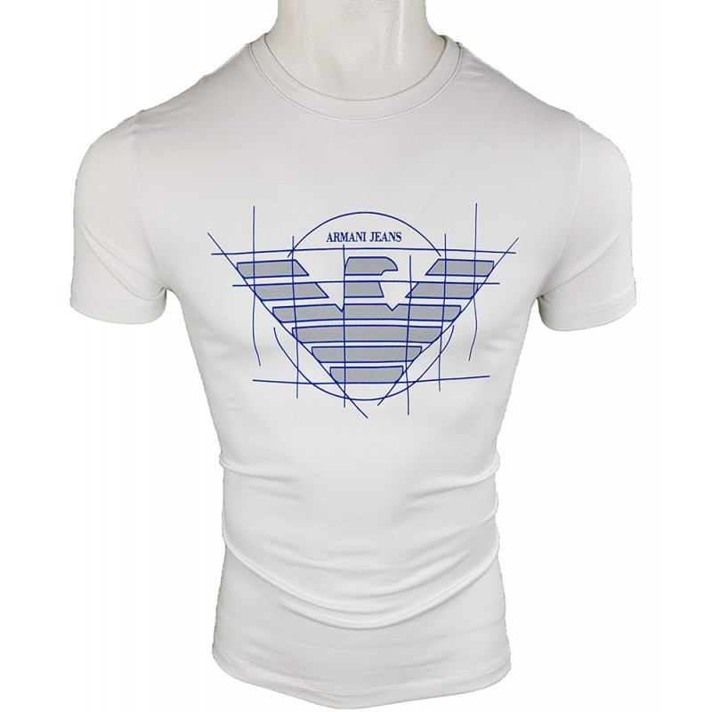 Camiseta Armani Jeans Hombre Blanca Ref.6273