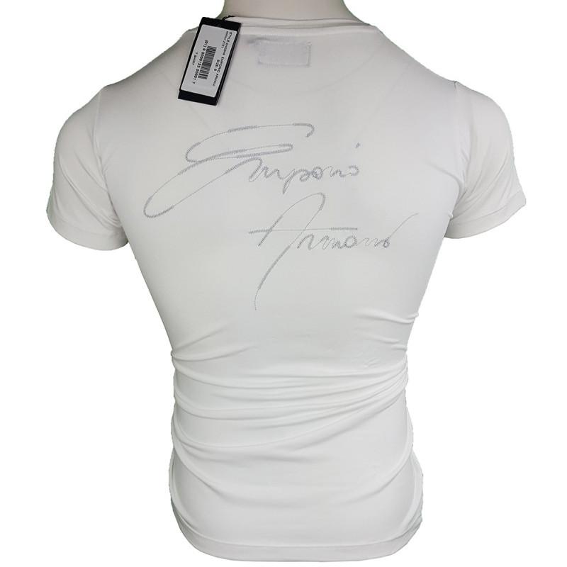 Camiseta Armani Hombre Blanca Ref.6286