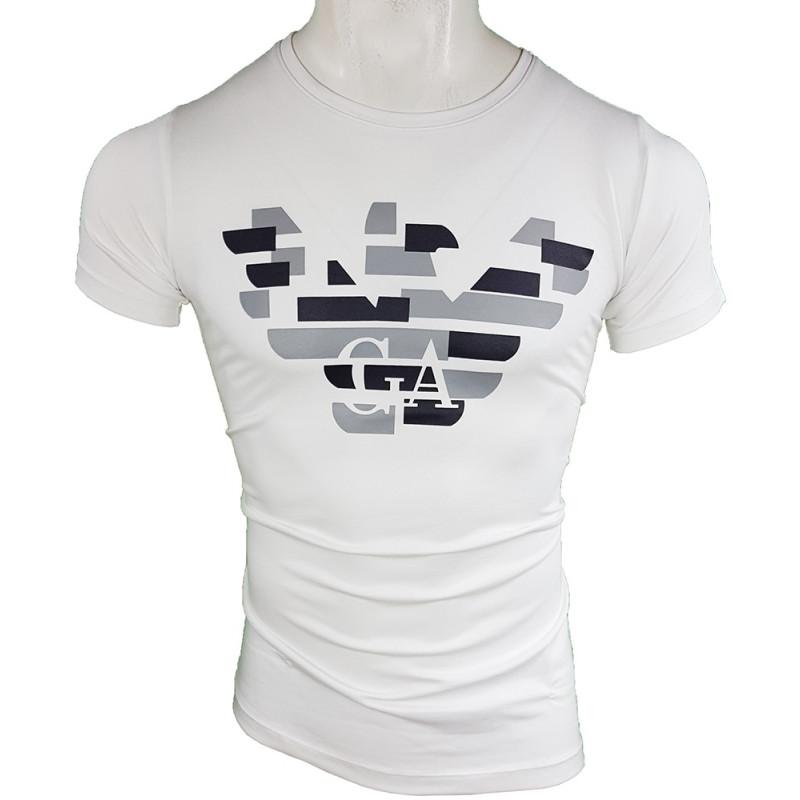 Camiseta Armani Hombre Blanca Ref.6291